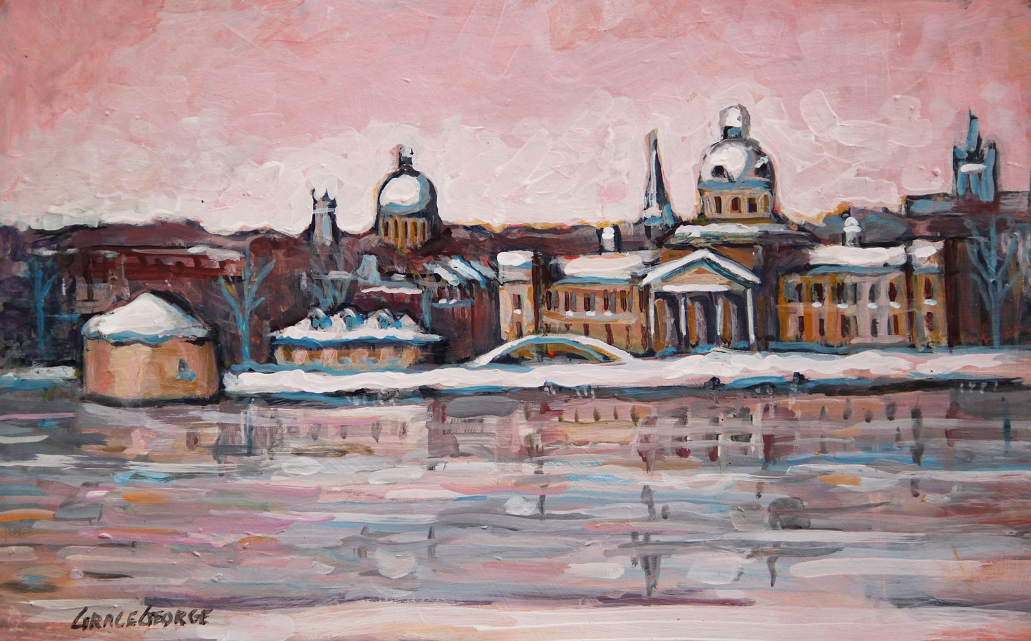 Grace George -- Kingston Waterfront, Late Snow