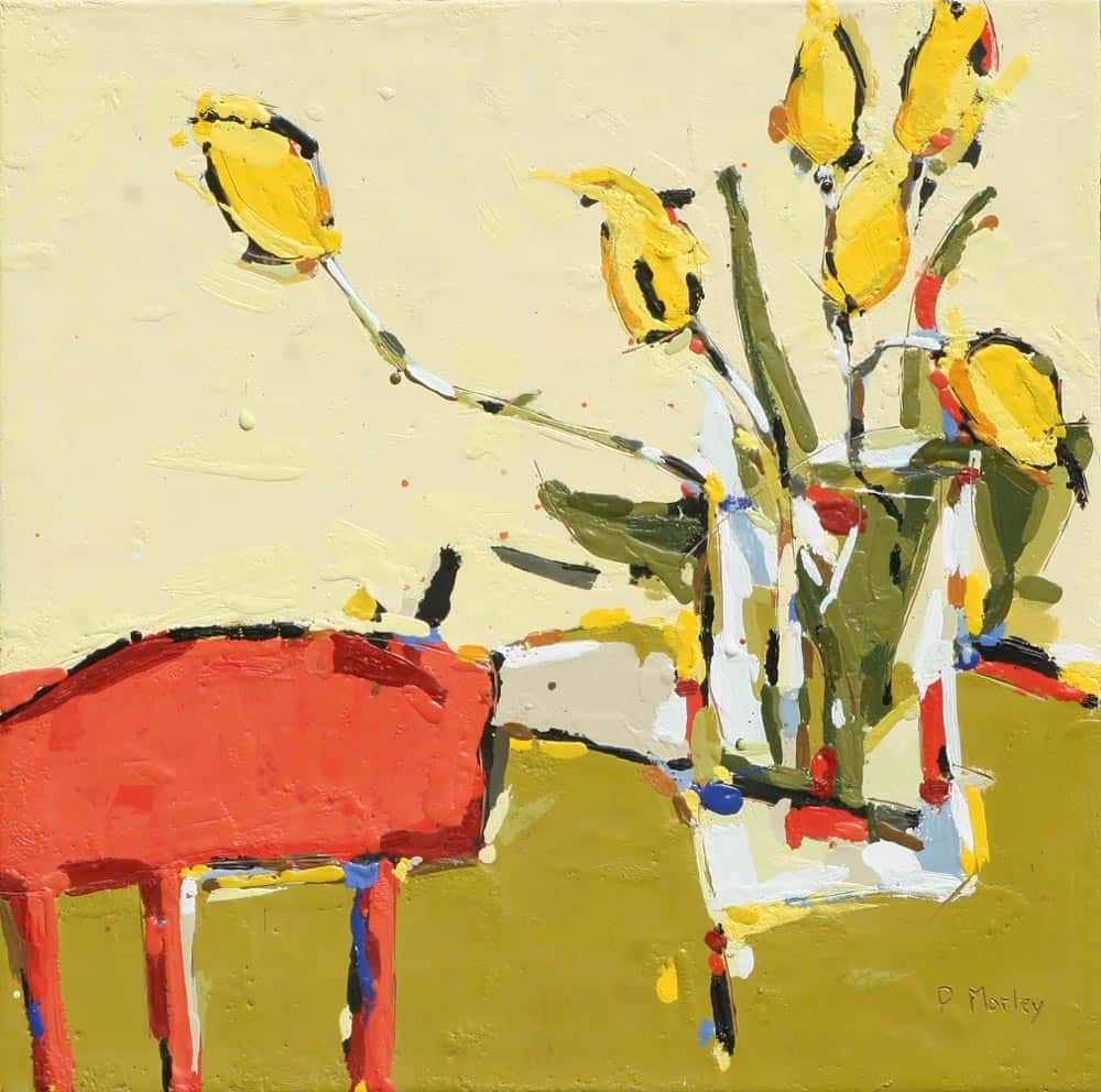 Peggy Morley -- Yellow Tulips V
