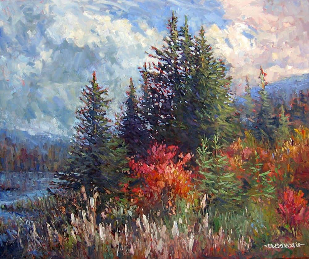 Frank Edwards -- Late Afternoon Pines