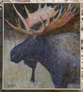 Gerry Wright--Young Bull Moose