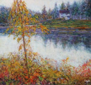 Gerry Wright -- Overcast Morning, Thousand Islands