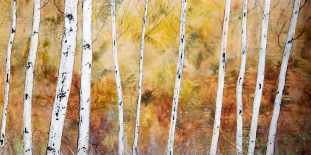 Sarah Hunter -- Fall Birches