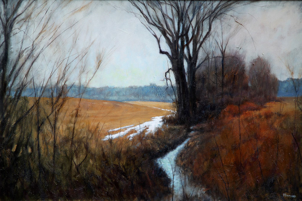 Michael Minthorn -- Winter's Retreat  SOLD