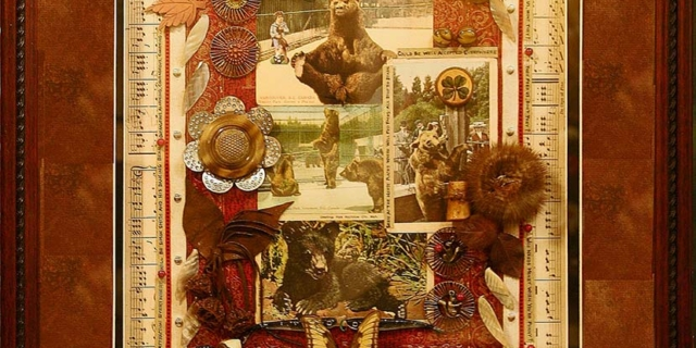 Creative Framing double mat with 3D collage