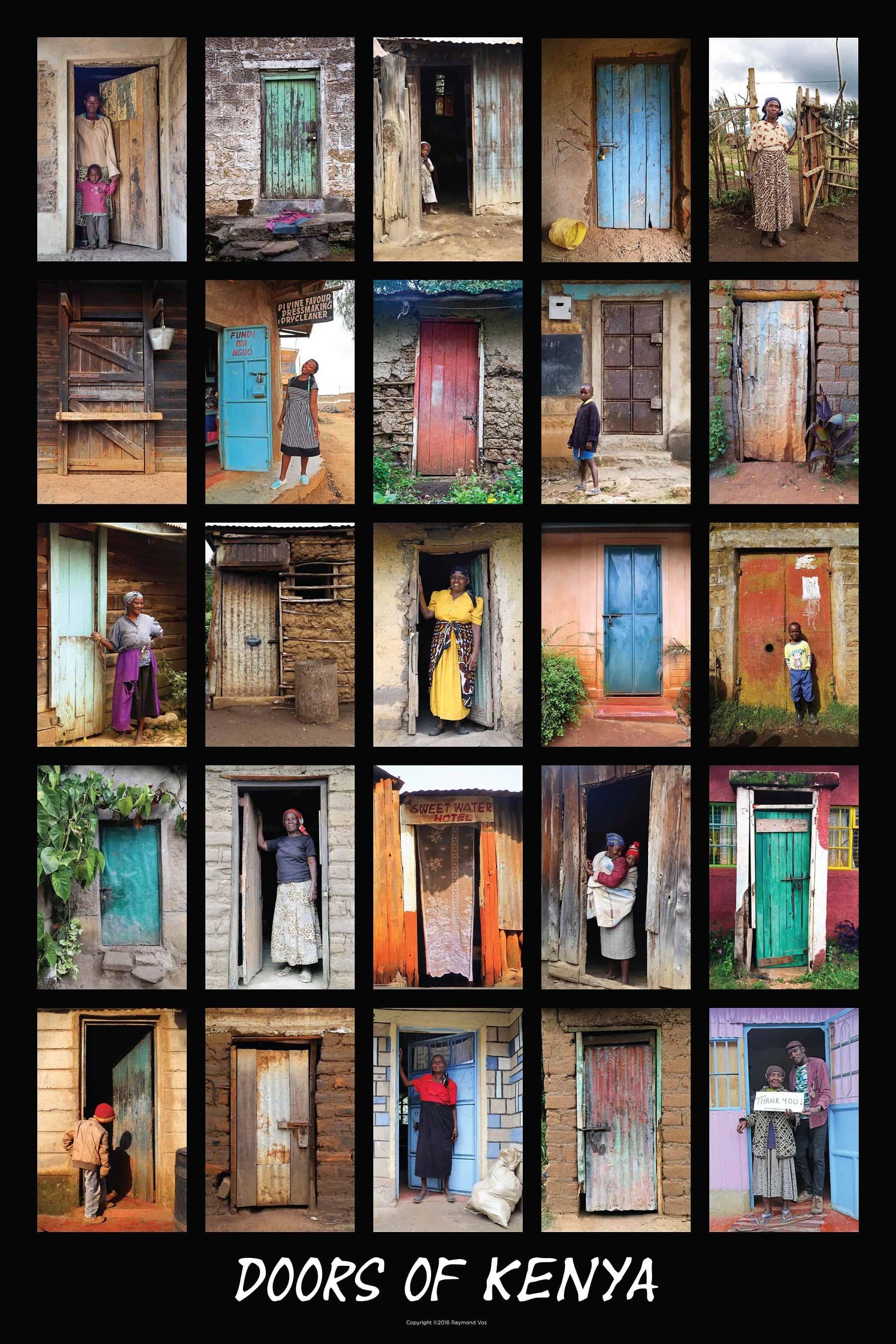 1-Doors Of Kenya 24X36 Poster $40.00