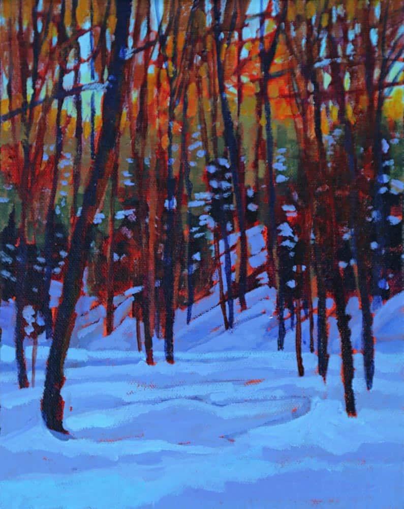 Barb Sohn--Snowshoe Sunrise I
