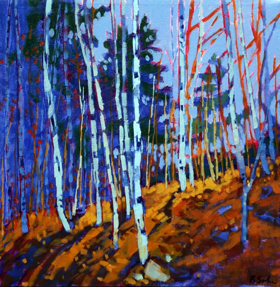 Barb Sohn--Roadside Birches